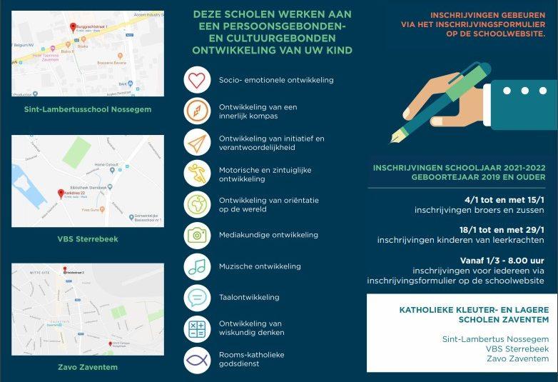 Inschrijven schooljaar 2021-2022